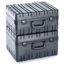 Rotational molded plastic tool cases